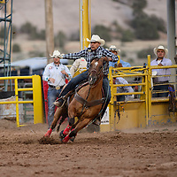 Erich Rogers of Round Rock, Az participating in team roping at the annual 4th of July celebration and PRCA Rodeo in Window Rock, Saturday July 7.