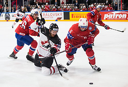 Sean Couturier of Canada vs Jonas Holos of Norway during the 2017 IIHF Men's World Championship group B Ice hockey match between National Teams of Canada and Norway, on May 15, 2017 in AccorHotels Arena in Paris, France. Photo by Vid Ponikvar / Sportida