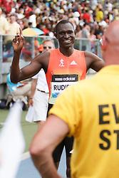 Samsung Diamond League adidas Grand Prix track & field; men's 800 meters, David Rudisha, KEN, winner, post race