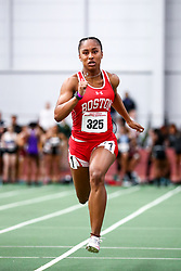 David Hemery Valentine Invitational<br /> Indoor Track & Field at Boston University , womens 60 meters, heat 2,  BU,
