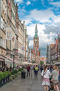 Gdańsk (woj. pomorskie) 18.07.2016. Ulica Długa w Gdańsku