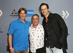 """William McNamara, Tommy Martino and Randall Batinkoff at DTLA Film Festival """"INSIDE GAME"""" Los Angeles Premiere held at Regal LA Live on October 24, 2019 in Los Angeles, California, United States (Photo by © Michael Tran/VipEventPhotography.com"""