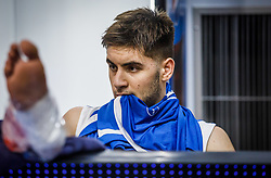 Klonaras  Dimitrios of Greece injured during basketball match between National teams of Greece and Slovenia in the Group Phase C of FIBA U18 European Championship 2019, on July 29, 2019 in  Nea Ionia Hall, Volos, Greece. Photo by Vid Ponikvar / Sportida