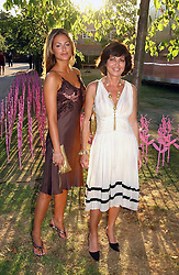 Left to right, SASKIA BOXFORD and her mother PILAR BOXFORD at the Serpentine Gallery Summer party sponsored by Yves Saint Laurent held at the Serpentine Gallery, Kensington Gardens, London W2 on 11th July 2006.<br /><br />NON EXCLUSIVE - WORLD RIGHTS