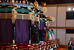 October 22, 2019, Tokyo, Japan: 22-10-2019 TOKYO Emperor Naruhito and Empress Masako attend the enthronement ceremony where emperor officially proclaims his ascension to the Chrysanthemum Throne at the Imperial Palace in Tokyo..../pool (Credit Image: © face to face via ZUMA Press)