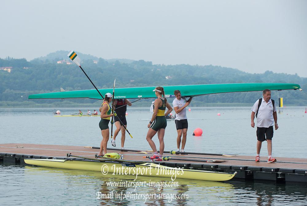 Varese. ITALY.   Genaral Views, Boating Area. 2015 FISA World Cup II Venue Lake Varese. Friday  19/06/2015 [Mandatory Credit: Peter Spurrier/Intersport Images] .   Empacher.