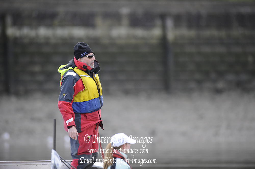 Putney, GREAT BRITAIN,  Cambridge Chief Coach, Duncan HOLLAND. 2008 Boat Race, Tideway Week,  Cambridge, , during a  training outing on the River Thames, Thur's. 27.03.2008  [Mandatory Credit, Peter Spurrier / Intersport-images] Varsity Boat Race, Rowing Course: River Thames, Championship course, Putney to Mortlake 4.25 Miles,
