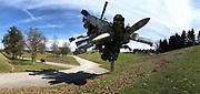 Österreichischer Skulpturenpark (Austrian Sculptures Park), Premstätten.<br /> Nancy Rubins, Airplane Parts & Hills, 2003