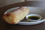 Ciabatta (Italian white bread) and olive oil