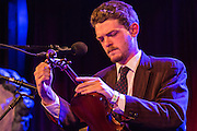Old time musician Jackson Lynch opened the fifth Brooklyn Folk Festival at the Bell House.