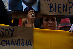 August 3, 2017 - Madrid, Madrid, Spain - A protester during a protest in Madrid in support of Nicolás Maduro. (Credit Image: © Jorge Sanz/Pacific Press via ZUMA Wire)