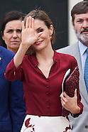 072115 Queen Letizia Meet with Institute Cervantes Directors