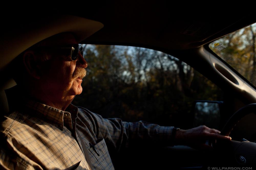 J Parson drives home in Girard, Kansas.