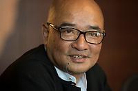 """19 JUN 2012, BERLIN/GERMANY:<br /> Maung Thura """"Zarganar"""",  Comedian, Komoediant, Film- und Fernsehschauspieler, Filmregisseur burmesischer Sprache und  Kritiker des Militaerregimes in Burma/Myanmar, waehrend einem Pressegespraech, Hotel Melia<br /> IMAGE: 20120619-01-028<br /> KEYWORDS Regimekritiker"""