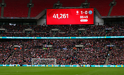General view of the attendance during the Checkatrade Trophy final at Wembley Stadium, London.