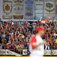 9 March 2009: Fans react after Puerto Rico victory during the 2009 World Baseball Classic Pool D game 4 at Hiram Bithorn Stadium in San Juan, Puerto Rico. Puerto Rico wins 3-1 over Netherlands.