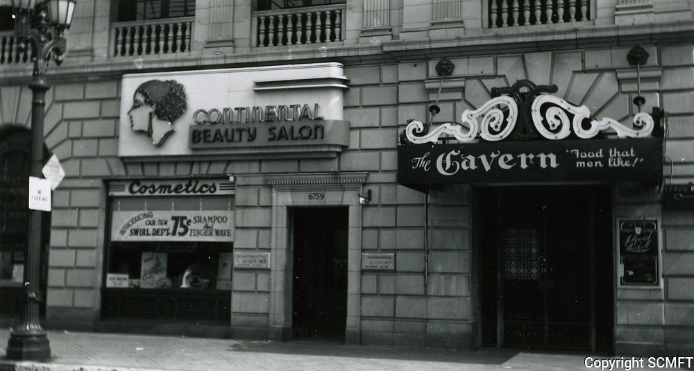 1944 The Tavern Restaurant at 6753 Hollywood Blvd, formerly Montmartre Cafe and the Embassy Club.