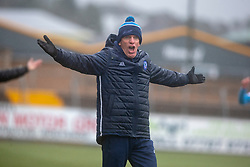 Forfar Athletic's manager Jim Weir. Forfar Athletic 3 v 0 East Fife, Scottish Football League Division One game played 2/3/2019 at Forfar Athletic's home ground, Station Park, Forfar.
