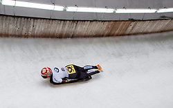 20.02.2016, Olympiaeisbahn Igls, Innsbruck, AUT, FIBT WM, Bob und Skeleton, Damen, Skeleton, 3. Lauf, im Bild Sophia Griebel (GER) // Sophia Griebel of Germany competes during women Skeleton 3rd run of FIBT Bobsleigh and Skeleton World Championships at the Olympiaeisbahn Igls in Innsbruck, Austria on 2016/02/20. EXPA Pictures © 2016, PhotoCredit: EXPA/ Johann Groder