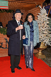 SIR BRUCE & LADY FORSYTH at Skate at Somerset House in association with Fortnum & Mason held on 10th November 2014.
