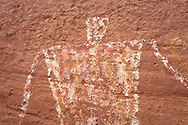 Monument Valley Tribal Park, pictograph, Many Hands Ruin site, Mystery Valley, AZ