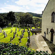 Logierait Church is  famous for an ancient pictish cross slab sculpted with pictish symbols, and several mort-cages<br />