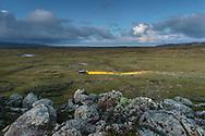 Unterwegs mit dem Offroader im Web Valley in der Region Sodota des Bale Mountains Nationalparks  im Süden von Äthiopien