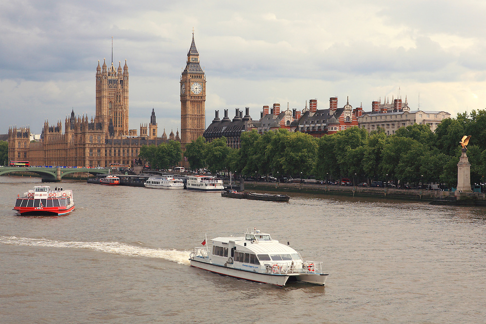 River Thames View Of Parliment - London, UK