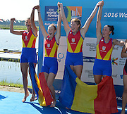 Rotterdam. Netherlands. 2016 Silver Medalist ROM BW4- JWRC, U23 and Non Olympic Regatta. {WRCH2016}  at the Willem-Alexander Baan.   Friday 26/08/2016 <br /><br />[Mandatory Credit; Peter SPURRIER/Intersport Images]