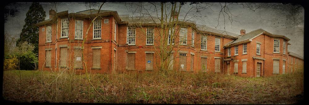 Exterior panorama of West Park abandoned asylum
