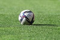 2021.07.24 Bialystok Pilka nozna PKO Ekstraklasa sezon 2021/2022. Jagiellonia Bialystok (zolto-czerwone) - Lechia Gdansk N/z pilka na boisku fot Michal Kosc / AGENCJA WSCHOD