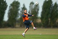 Photograph: Scott Heavey.<br />Chelsea Training. 22/08/2003.<br />Adrian Mutu during training.