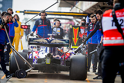 February 19, 2019 - Montmelo, Barcelona, Catalonia, Spain - Barcelona-Catalunya Circuit, Montmelo, Catalonia, Spain - 19/02/2018: Alex Albon of Scuderia Toro Rosso Honda and teammates in the second journey of F1 Test Days in Montmelo circuit. (Credit Image: © Javier Martinez De La Puente/SOPA Images via ZUMA Wire)