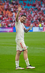 AMSTERDAM, THE NETHERLANDS - Saturday, June 26, 2021: Denmark's Nicolai Boilesen celebrates after the UEFA Euro 2020 Round of 16 match between Wales and Denmark at the  Amsterdam Arena. Denmark won 4-0. (Photo by David Rawcliffe/Propaganda)