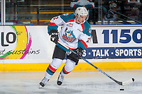 KELOWNA, CANADA - FEBRUARY 10: James Hilsendager #2 of the Kelowna Rockets warms up with the puck against the Vancouver Giants on February 10, 2017 at Prospera Place in Kelowna, British Columbia, Canada.  (Photo by Marissa Baecker/Shoot the Breeze)  *** Local Caption ***