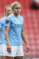 Manchester City defender Steph Houghton (6) Portrait half body during the FA Women's Super League match between Manchester United Women and Manchester City Women at Leigh Sports Village, Leigh, United Kingdom on 14 November 2020.