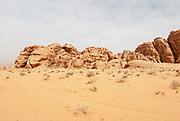Desert Landscape. Photographed in Wadi Rum, Jordan in April