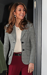 The Duchess of Cambridge arrives at a volunteer celebration event with the charity Shout at the Troubadour White City Theatre in London.