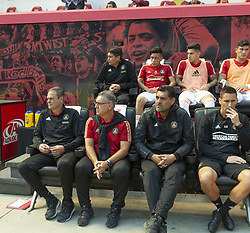 September 30, 2018 - Harrison, New Jersey, United States - Gerardo Martino head coach of Atlanta United FC sit on bench during regular MLS game against Red Bulls at Red Bull Arena Red Bulls won 2 - 0  (Credit Image: © Lev Radin/Pacific Press via ZUMA Wire)