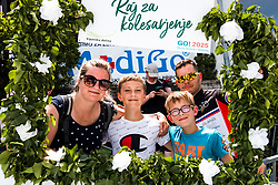 "The fans with sign ""Raj za kolesarjenje"" during the 4th Stage of 27th Tour of Slovenia 2021 cycling race between Ajdovscina and Nova Gorica (164,1 km), on June 12, 2021 in Slovenia. Photo by Matic Klansek Velej / Sportida"