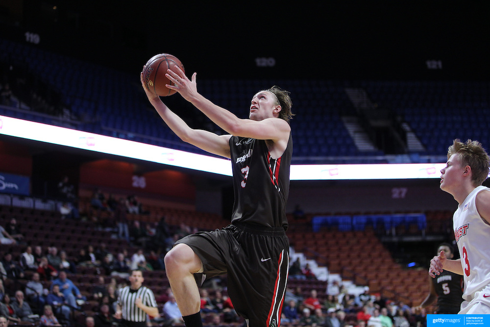 Steven Spieth, Brown, in action during the Marist vs Brown Men's College Basketball game in the Hall of Fame Shootout Tournament at Mohegan Sun Arena, Uncasville, Connecticut, USA. 22nd December 2015. Photo Tim Clayton