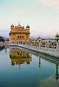 The Sikh religion Golden Temple at Amritsar, Punjab, India home to the Harmandir Sahib