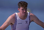 Barcelona, SPAIN. Gold Medalist, GBR M2+, Greg SEARLE 1992 Olympic Rowing Regatta Lake Banyoles, Catalonia [Mandatory Credit Peter Spurrier/ Intersport Images] Last time Men's coxed pair raced at the Olympics