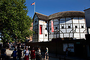 Shakespeare's Globe Theatre on the Southbank. This restored and working theatre in the round is ont eh original site where Shakespeare plays were performed in the 1600's.