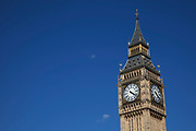 Big Ben, the clock tower of the Houses of Parliament st Westminter, London. This icon of London is a big draw for tourism.