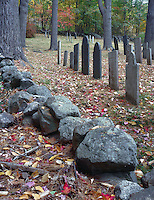 Fall foliage at Chesham Cemetery, Chesham, New Hampshire.