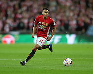Jesse Lingard of Manchester Utd in action.EFL Cup Final 2017, Manchester Utd v Southampton at Wembley Stadium in London on Sunday 26th February 2017. pic by Andrew Orchard, Andrew Orchard sports photography.