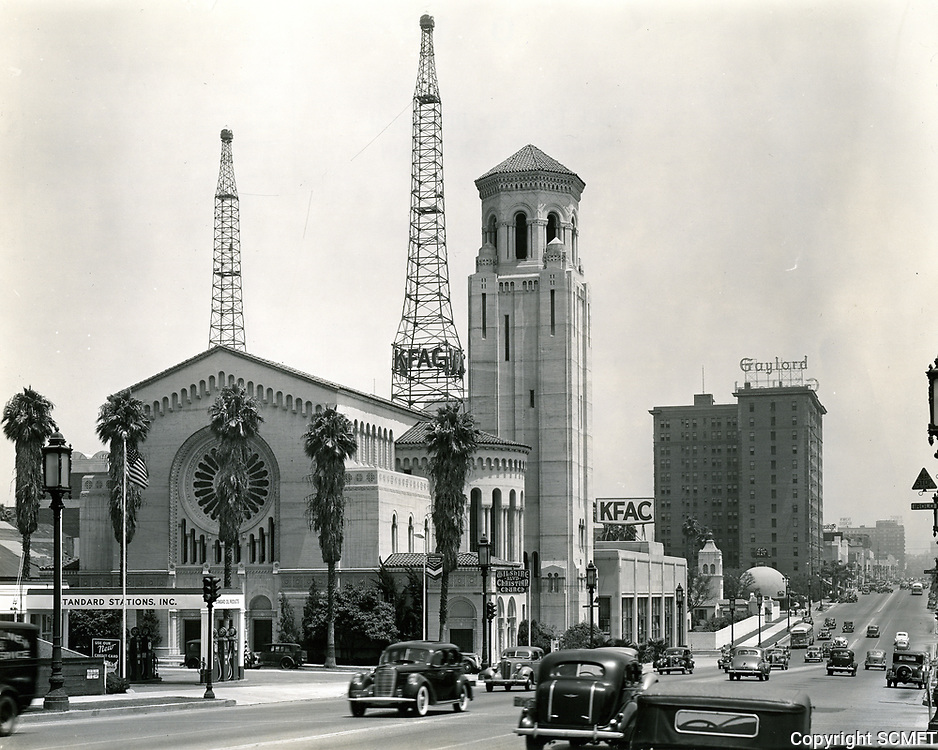 1938 Looking at Wilshire Blvd. and Normandie Ave.
