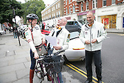 ALEX ROY , KAT HENCKEN AND MICHAEL ROSS, De Grisogono & Londino Car Rally  setting off from the Bluebird Building. King's Rd. London. 23 August 2007. Car rally which takes drivers through London, France, Switzerland and finally to Portofino .  -DO NOT ARCHIVE-© Copyright Photograph by Dafydd Jones. 248 Clapham Rd. London SW9 0PZ. Tel 0207 820 0771. www.dafjones.com.
