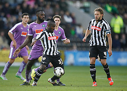 Stanley Aborah of Notts County (C) and Hiram Boateng of Plymouth Argyle in action - Mandatory byline: Jack Phillips / JMP - 07966386802 - 11/10/2015 - FOOTBALL - Meadow Lane - Nottingham, Nottinghamshire - Notts County v Plymouth Argyle - Sky Bet Championship